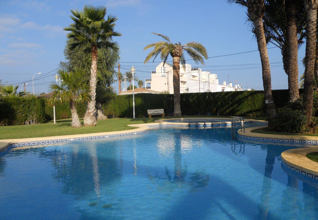Appartement in Denia - Apartamento ideal para familiascon parque infantil,piscina y jardin
